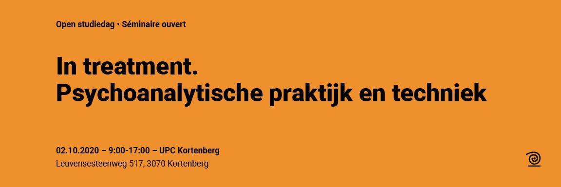 02.10.2020: In treatment. Psychoanalytische praktijk en techniek